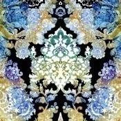 Papier peint Damsel Damask Blue Timorous Beasties