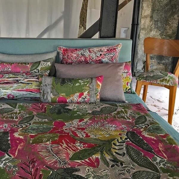 tissu jungle lalie design. Black Bedroom Furniture Sets. Home Design Ideas