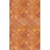Papier peint Orange Tiles Tomette Curious Collections