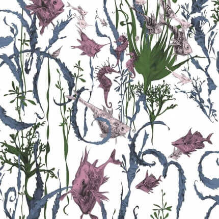 Papier peint Jardin Marin Edmond Petit Vert/Rose RM115-02 Edmond Petit