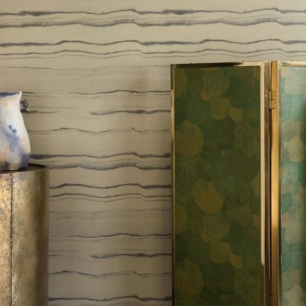 papier peint nympheas nobilis. Black Bedroom Furniture Sets. Home Design Ideas