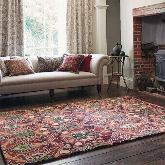 Granada Red Rug 140x200 cm Morris and Co