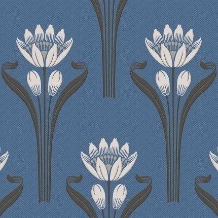 Papier peint Tulipes Isidore Leroy Bleu 6240407 Isidore Leroy