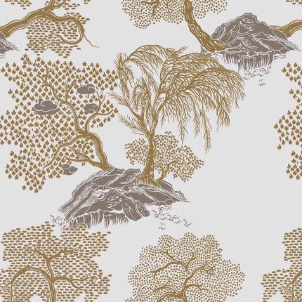 Papier peint Jardin d'Asie Isidore Leroy Chamois 6240507 Isidore Leroy