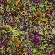 Tissu Indian Sunflower  Graphite Designers Guild
