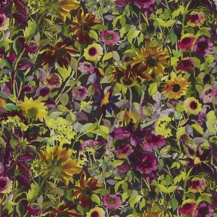 Tissu Indian Sunflower Designers Guild  Graphite FDG2854/01 Designers Guild