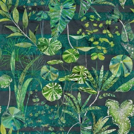 Tissu Arjuna Leaf Designers Guild  Viridian FDG2820/01 Designers Guild
