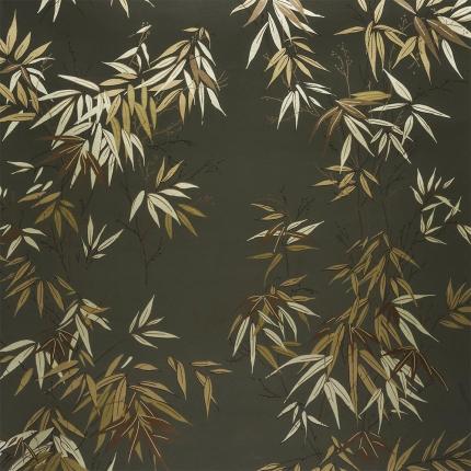 Papier peint Bambous Isidore Leroy Vert/Doré 6241003 Isidore Leroy