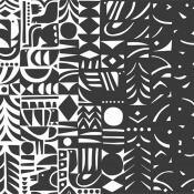 Papier peint Yôn Varjo  Cobalt Marimekko