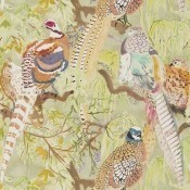 Papier peint Game Birds Charcoal Mulberry