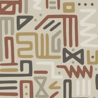 Papier peint Rain Dance Charcoal Mulberry