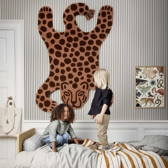 Safari Tufted Leopard Rug Brick Ferm Living