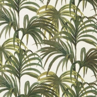 Palmeral Fabric Midnight/Green House of Hackney