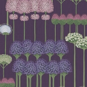 Papier peint Allium Violet/Rose Cole and Son