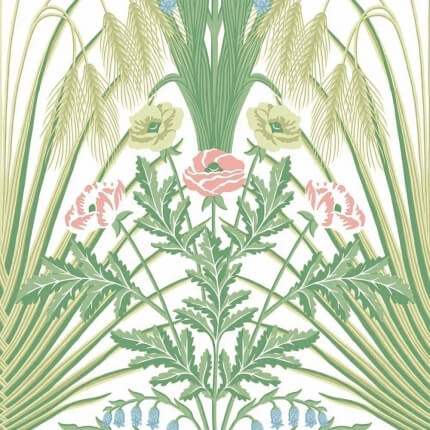 Papier peint Bluebell Cole and Son Vert/Bleu 115/3008 Cole and Son