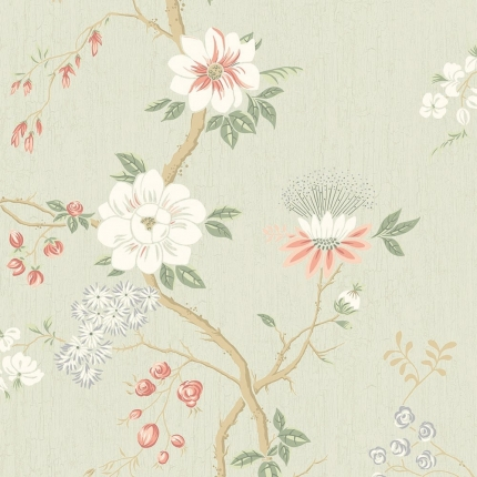 Papier peint Camellia Cole and Son Corail/Bleu 115/8024 Cole and Son
