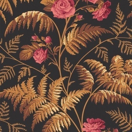 Papier peint Rose Cole and Son Rouge/Orange 115/10029 Cole and Son