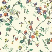Papier peint Sweet Pea Ocre/Rose Cole and Son