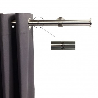 Linea Rod Stainless Steel Dis Nickel 102 cm Getynd