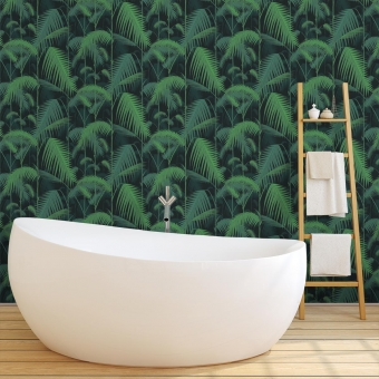 Papier peint Palm Jungle Classic Forest/Green Cole and Son