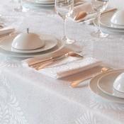 Serviette de table Bosphore Blanc Le Jacquard Français