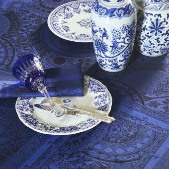 Porcelaine Napkin Bleu de chine Le Jacquard Français