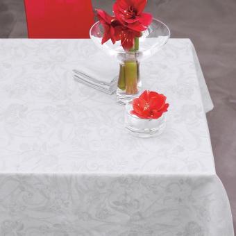 Tivoli Tablecloth 175x320 Blanc Le Jacquard Français