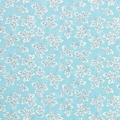 Tissu Meadow Leaf Aqua Designers Guild