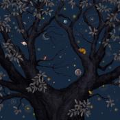 Panneau Abracadabra Nuit 200x330 cm Isidore Leroy