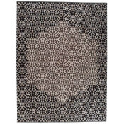 Tapis Diamond Medallion Black Cream 240x160 cm Golran