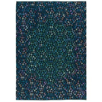 Diamond Medallion Blue Green Rug 160x240 cm Golran