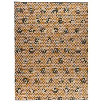 Trianglehex Gold Rug 160x240 cm Golran