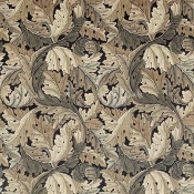 Tissu Acanthus Mustard/Grey Morris and Co