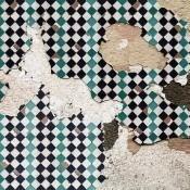 Panneau Tiles Broken Wall Turquoise Coordonné