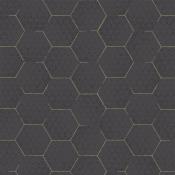 Papier peint Hexagon Noir Eijffinger