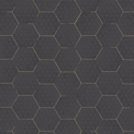 Papier peint Hexagon Eijffinger Noir 386581 Eijffinger
