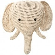 Tête d'éléphant en crochet Cream Anne-Claire Petit