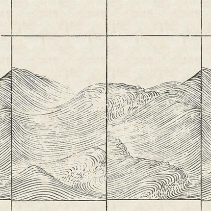 Panneau Waves Coordonné Papyrus 6800706N Coordonné