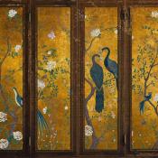 Panneau Edo Screen Floral Gold Coordonné