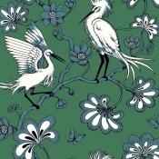 Papier peint Egrets  Bone York Wallcoverings