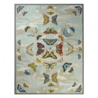 Mirrored Butterflies Sky Throw Bleu John Derian