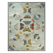 Plaid Mirrored Butterflies Sky Bleu John Derian