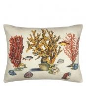 Coussin Sea Life  Coral John Derian