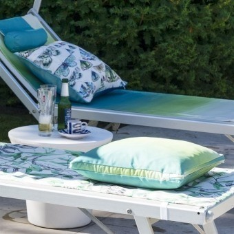 Savoie Outdoor Fabric Azure Designers Guild
