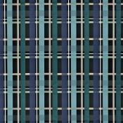 Tissu L'Entrelac  Bleu Paon Christian Lacroix