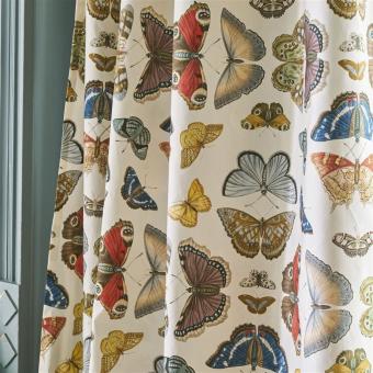 Tissu Mirrored Butterflies Parchment John Derian