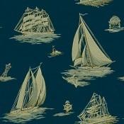 Papier Peint Down Easter Boats  Fog Ralph Lauren