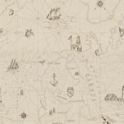 Papier Peint Searsport Map   Bone Ralph Lauren