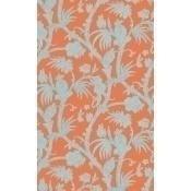 Papier peint Baltimore Coral/Aqua Thibaut