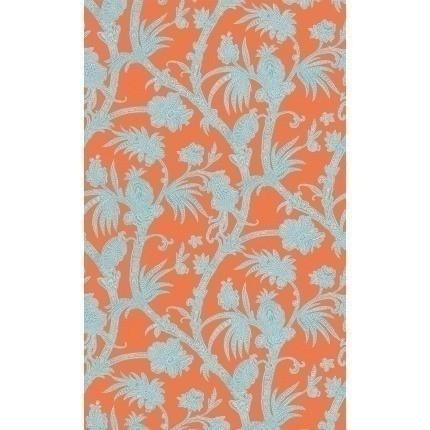 Papier peint Baltimore Thibaut Coral/Aqua /T13058 Thibaut